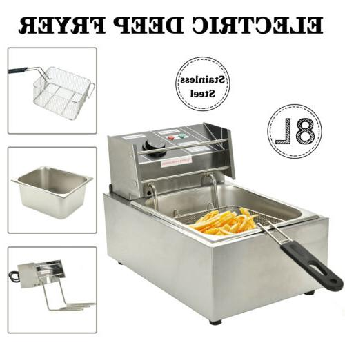 Commercial Electric Countertop Fryer French Fry Restaurant