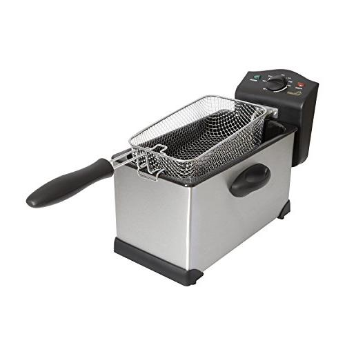 Chard DF-3E, Electric Deep Fryer, Stainless Steel, 3 liter,
