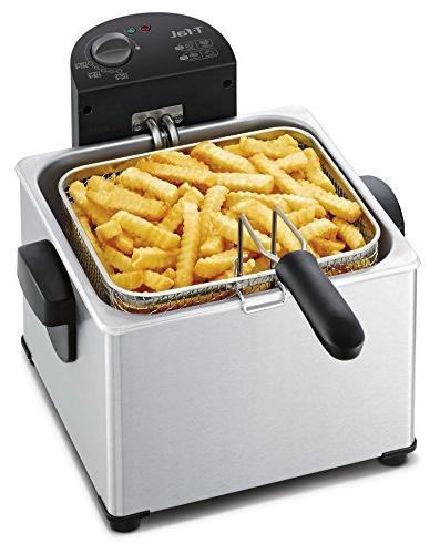 T-fal FR3900 Electric Deep Steel Basket Fryer, 4