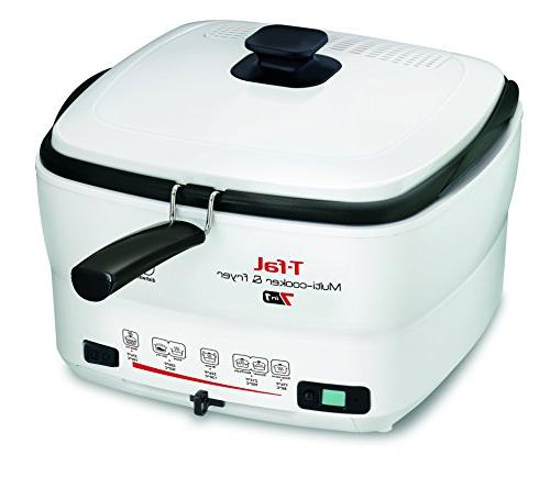T-fal FR490051 7-in-1 Multi-Cooker and Deep Fryer Nonstick Timer, Pound,