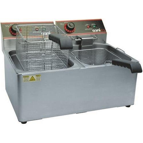 Winco EFT-32 Electric Deep Fryer, 1800W, 120V, 60Hz, Twin We