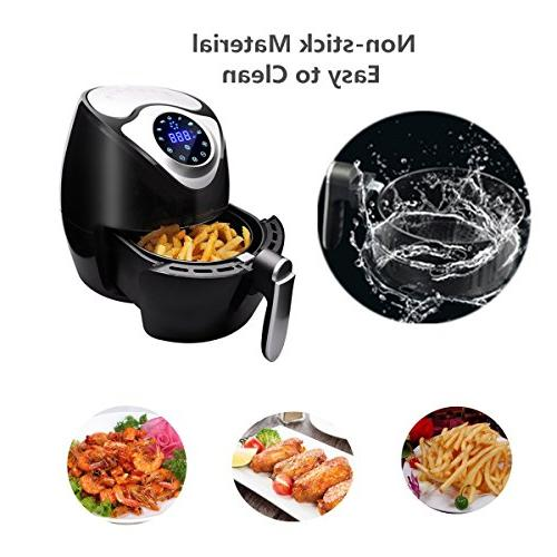 Oil Hot Fryer with Stainless Steel Accessories Basket Black