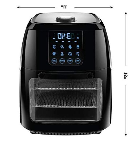 Chefman Air Fryer+ Rotisserie, Convection 8 Air Fry, Dehydrate, Bake & More,