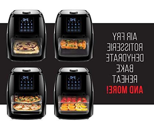 Chefman Digital Air Rotisserie, Dehydrator, Oven, 8 Presets Fry, & 6 Liter