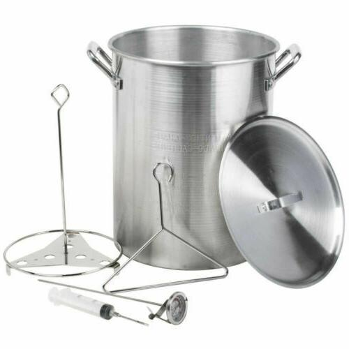 ALUMINUM DEEP FRYER 30 Quart Pot Kit Turkey Fryer Outdoor Pr
