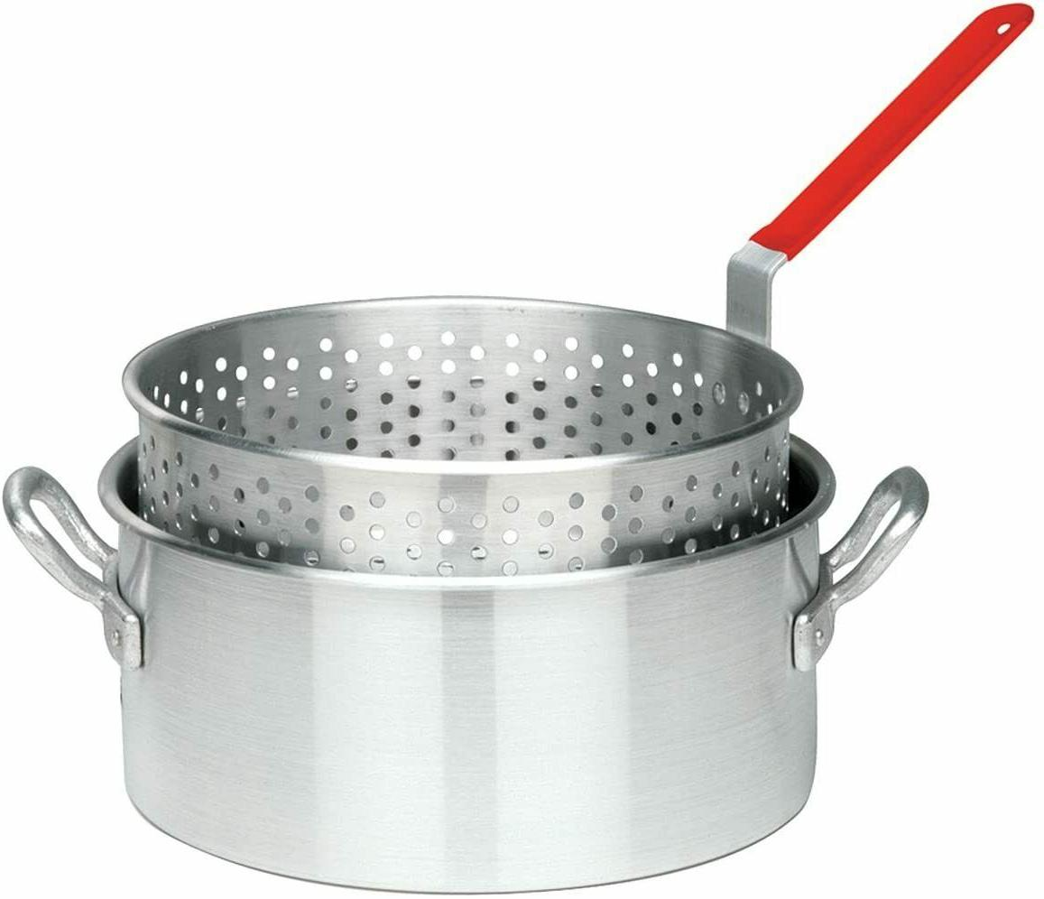 aluminum fry pot basket deep fryer frying