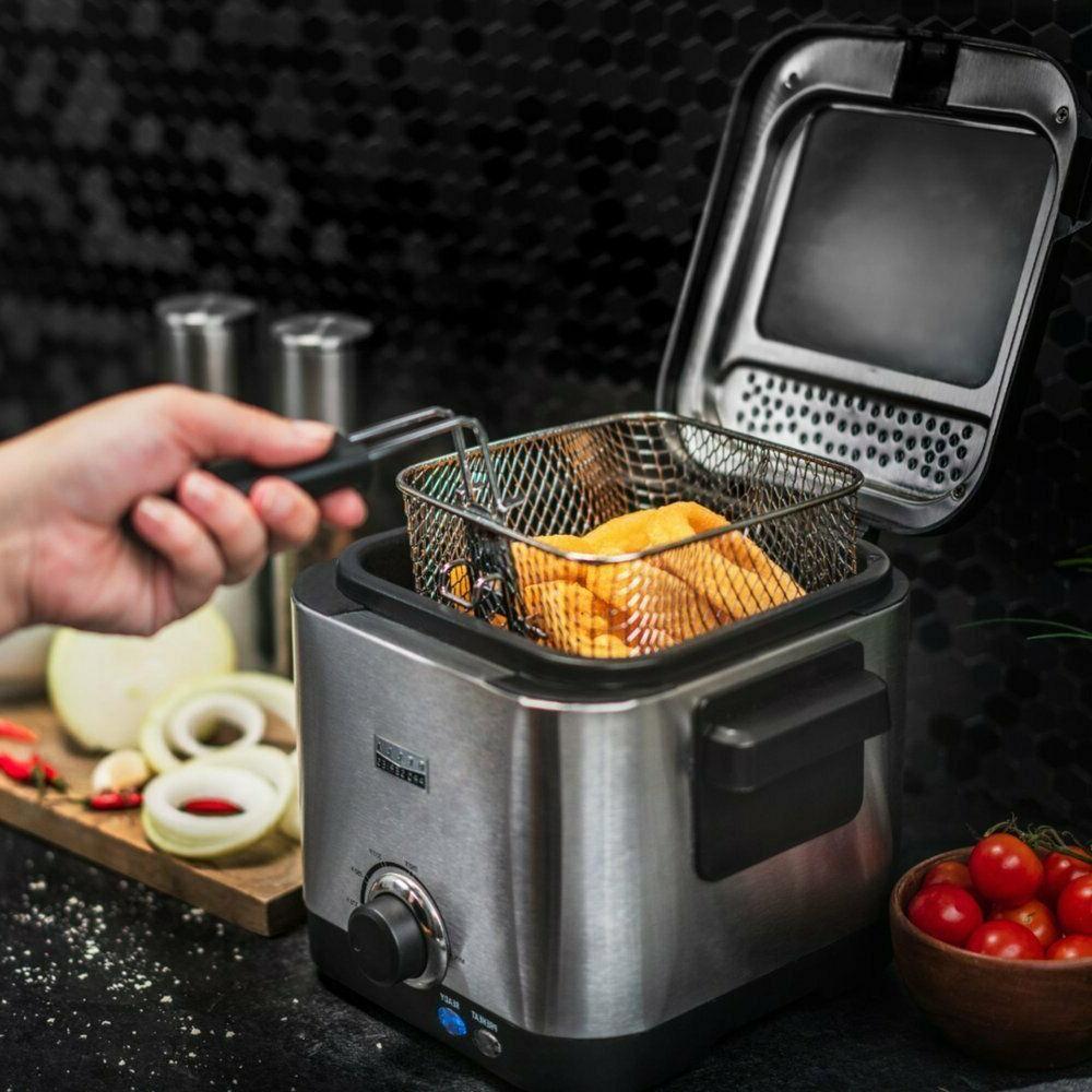 Deep Fryer Pro Series 1.6qt Adjustable Thermostat Clean Up E