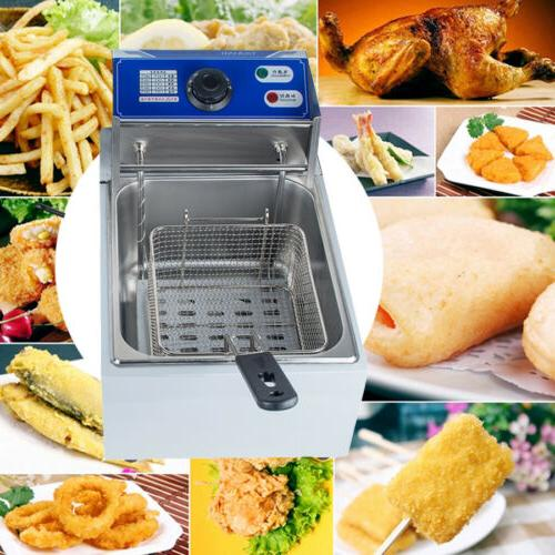 Home Electric Deep Fryer Tank 8L Restaurant+Basket Kitchen