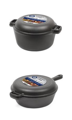 Cast Iron Dutch Oven Deep Fryer Skillet Pre Seasoned Pot Pan