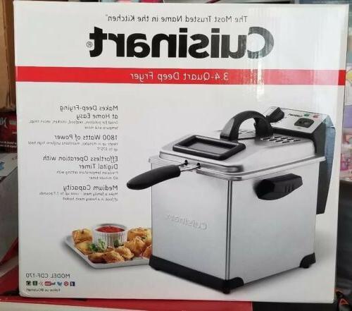 Stainless Steel Cuisinart CDF-170 3.4-Quart Deep Fryer