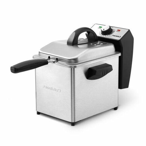 cdf130 compact deep fryer 2 quart stainless