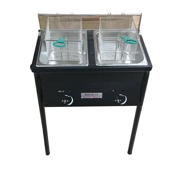 Chefspark Outdoor Two Tank Fryer, 2 Baskets & Stainless Stee