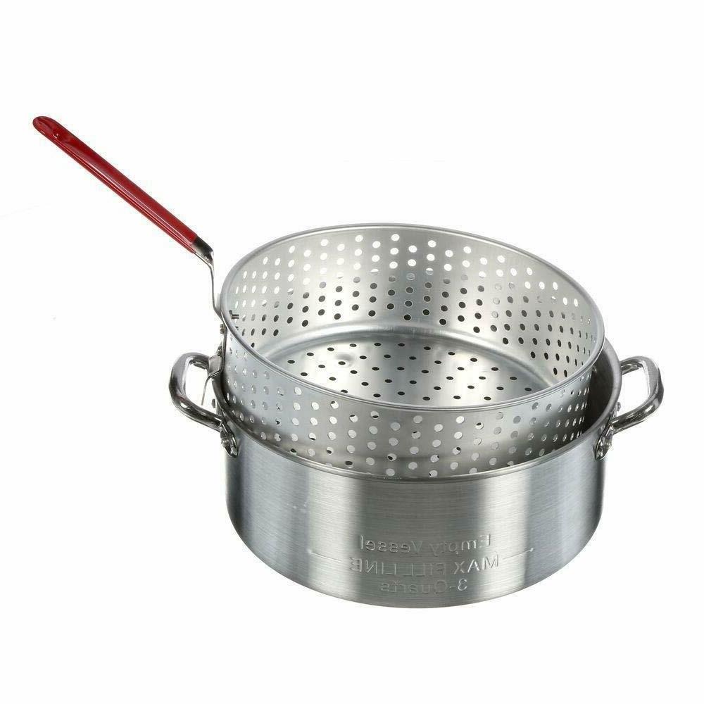 Classic Fry Pot Basket with Deep Fryer Pot