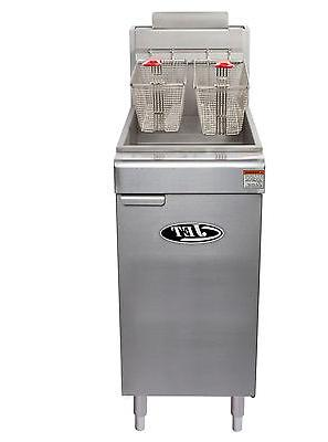Commercial Floor Gas Fryer 120,000BTU/Hr LP GAS JET