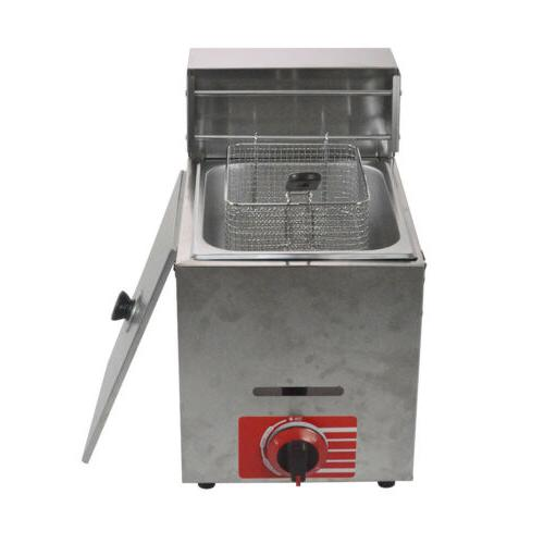 Commercial Countertop Gas 1 Basket, w/ metal tube