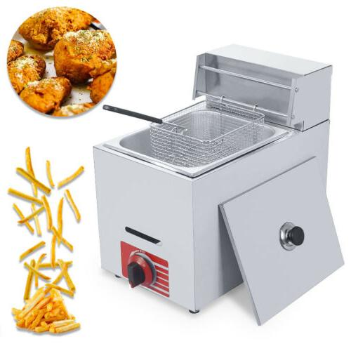 commercial countertop gas fryer 1 basket gf