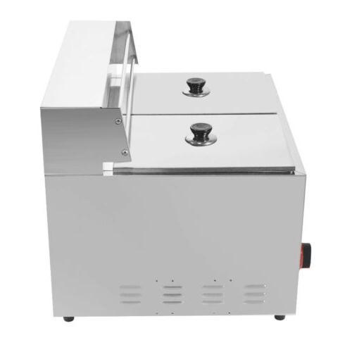 Commercial Countertop 2 Deep Fryer GF-72 Propane 10L*2