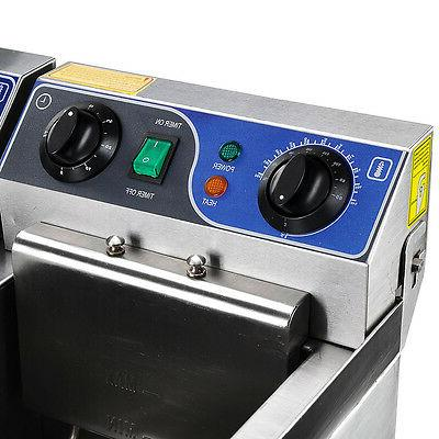 20L Commercial Fryer w/ Fast Food French Frys Electric