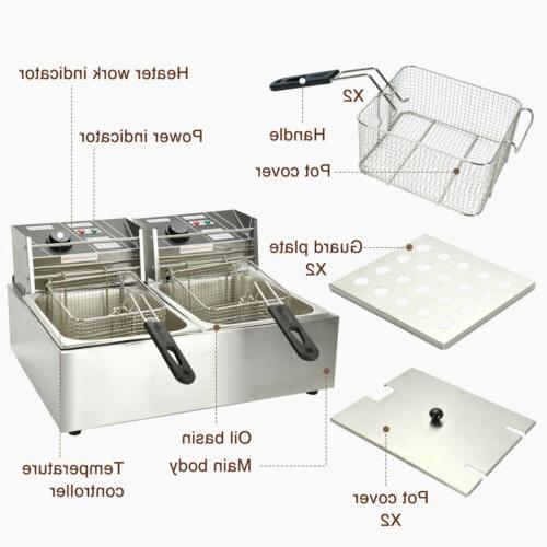 Commercial Electric Fryer Restaurant Tank