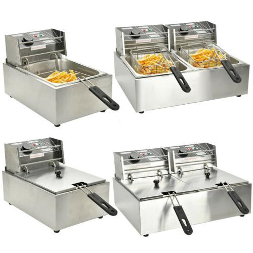 commercial electric countertop deep fryer french fry