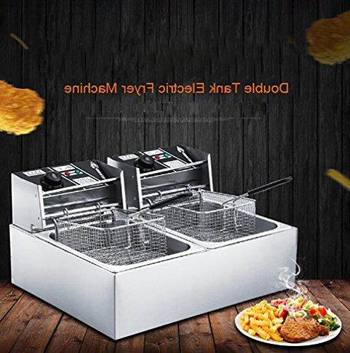 Commercial Deep and French Tanks Commercial Tabletop Fryer Electric Countertop Deep Fryer Restaurant Steel