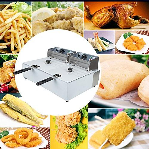 Commercial Electric and French Tabletop Countertop Deep Fryer