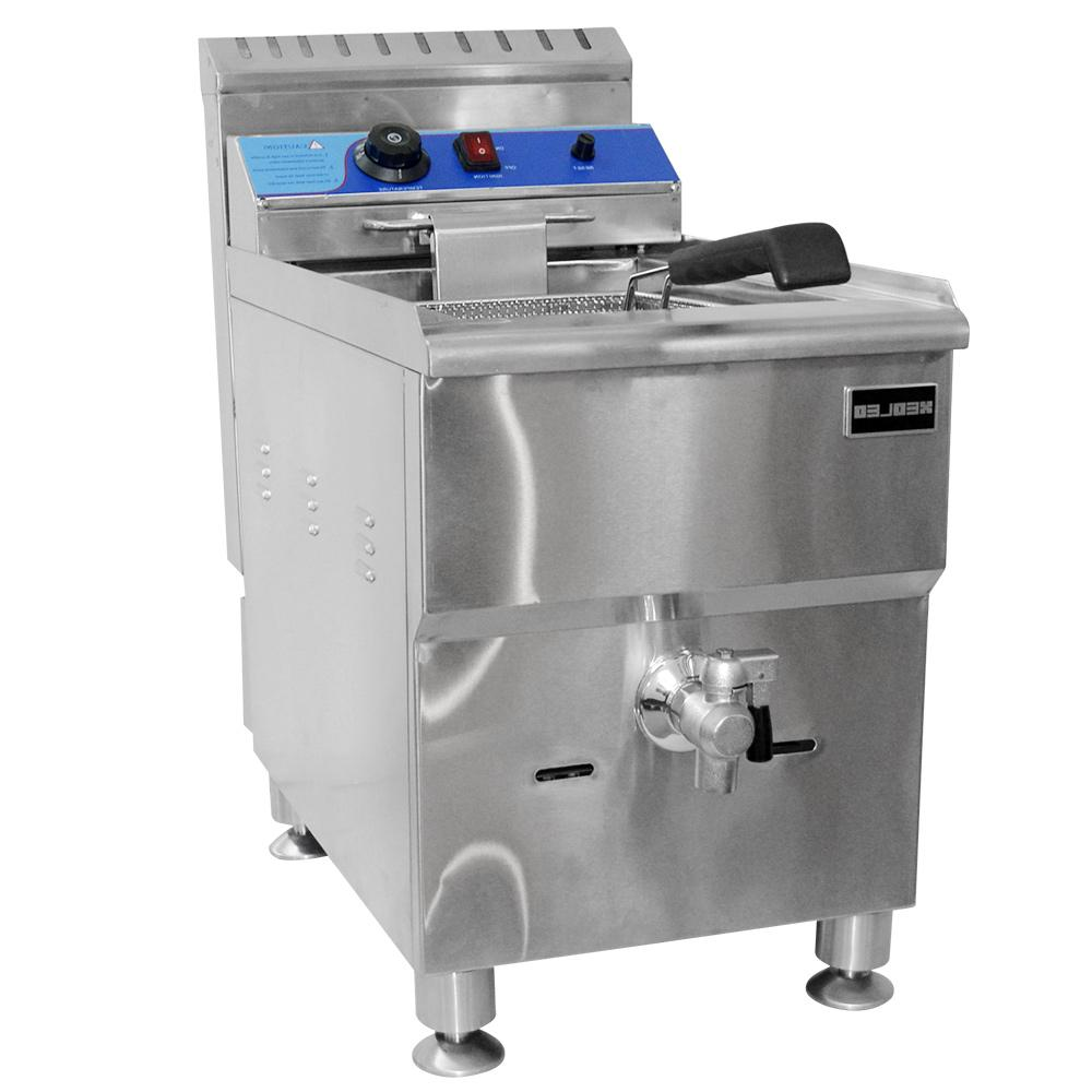 XEOLEO <font><b>fryer</b></font> steel Fried French machine LPG Frying machine with oil valve For 18L