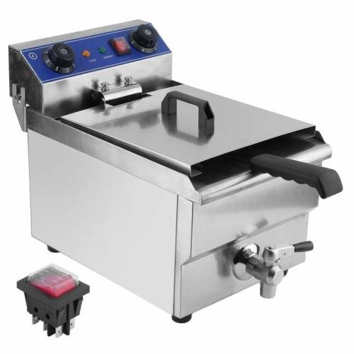 Commercial Electric Deep Fryer Stainless Steel +
