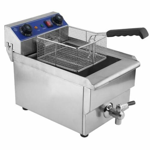 commercial restaurant electric 13l deep fryer stainless