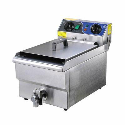 11.7L Electric Deep Fryer Drain Timer Home 1500W