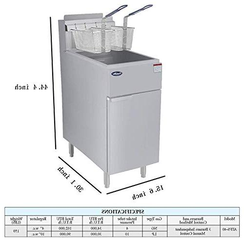 CookRite Deep Fryer Baskets Tube Gas Floor BTU