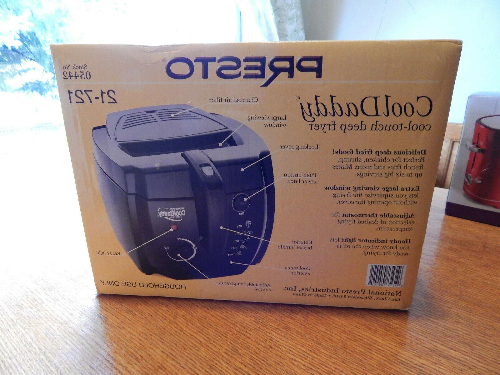 cooldaddy cool touch deep fryer black new