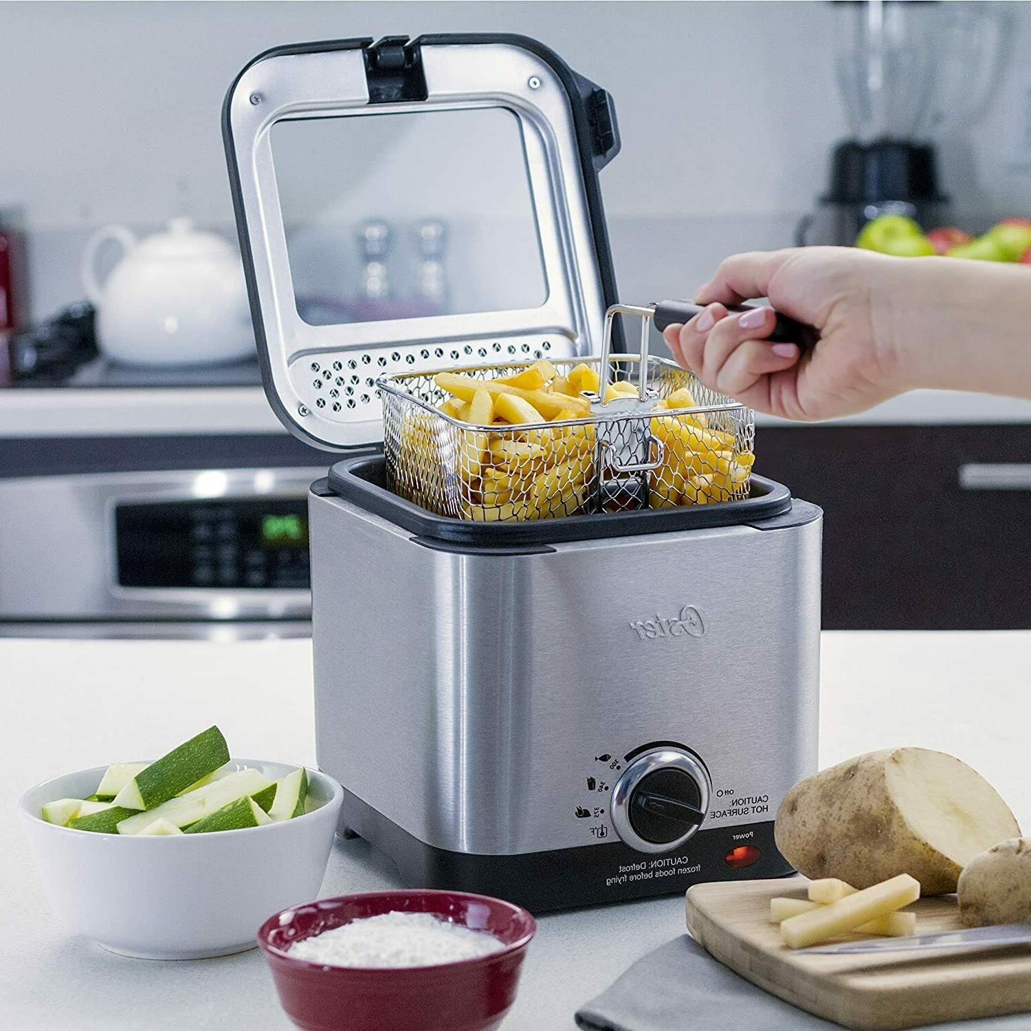SALE OFF Compact Style Stainless Fryer Stainless Steel