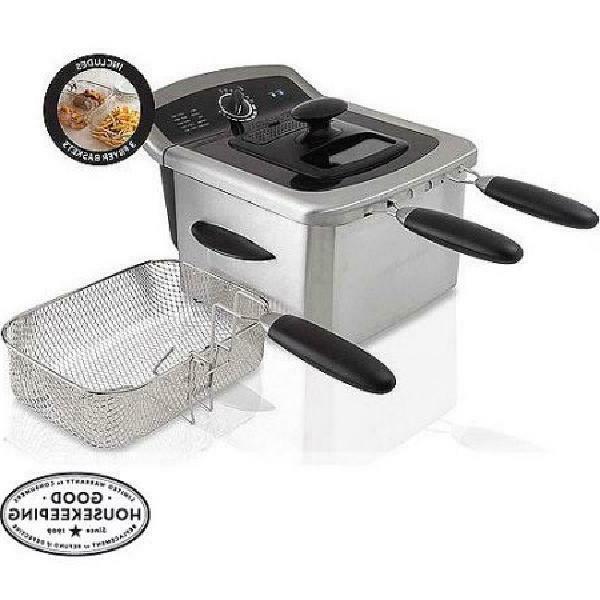 Farberware 4L Deep Fryer Stainless Steel Oil Pan Basket Filt
