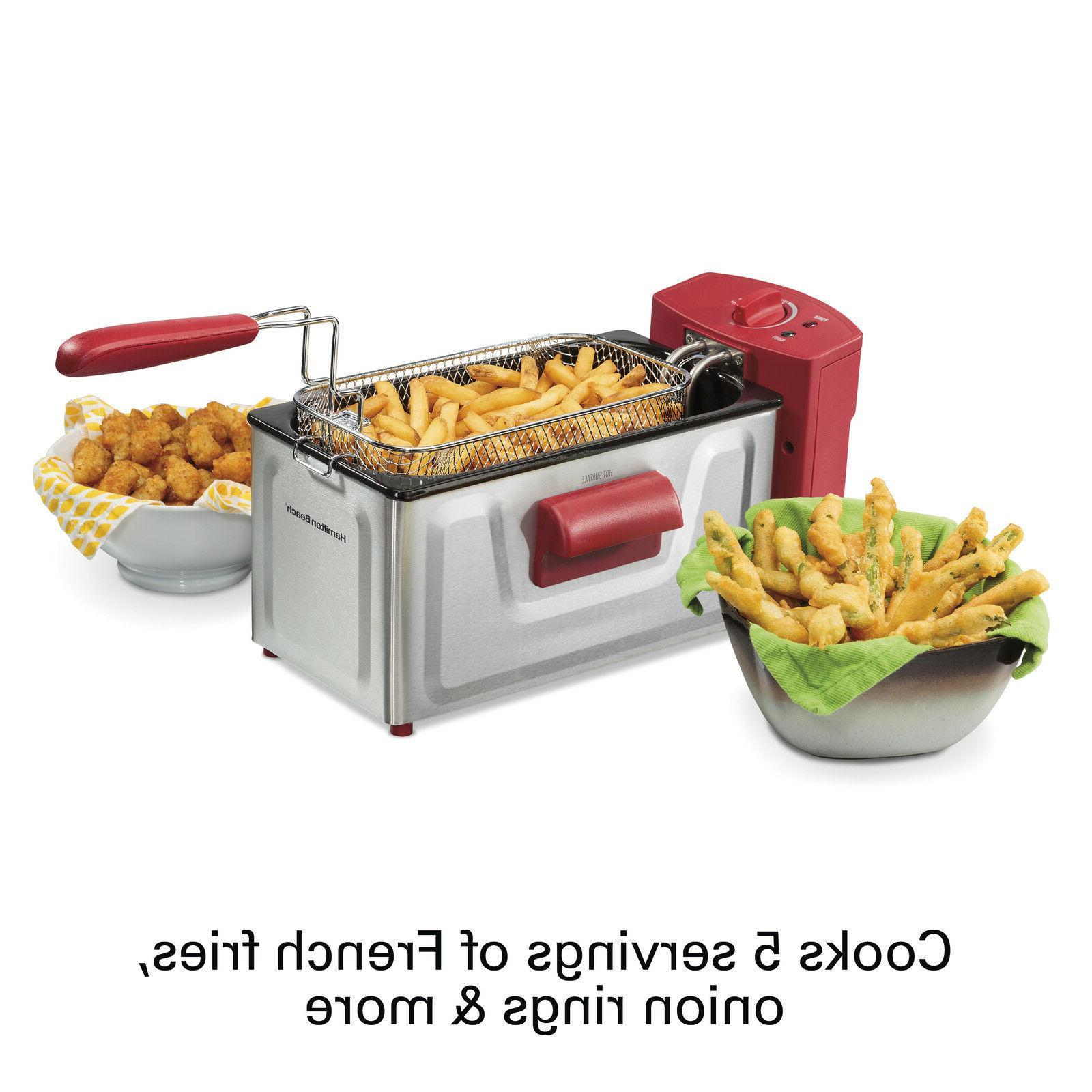 2 Fryer Basket Cooker Countertop Stainless