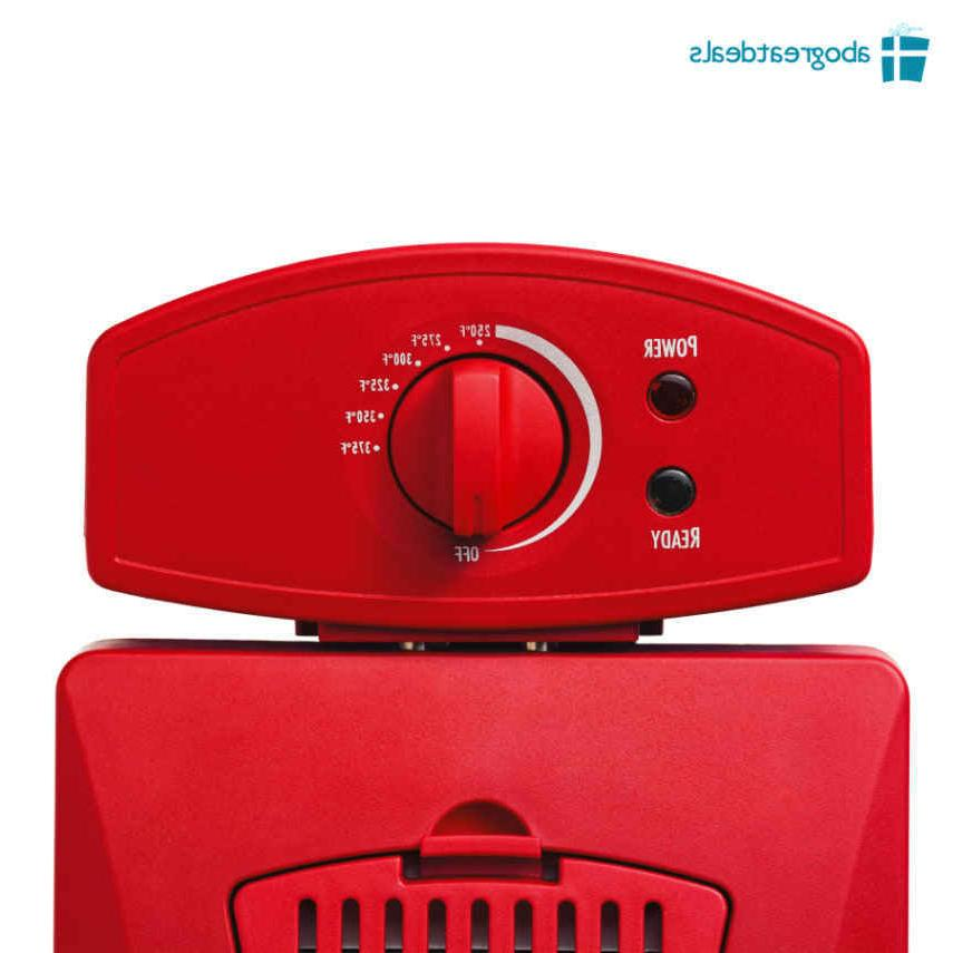 2 Basket Electric Cooker Countertop RED