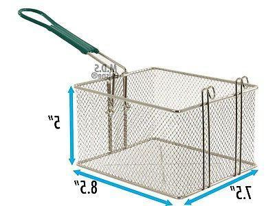 Deep Fryer Basket 10 Stainless Steel Propane Outdoor Heavy Duty