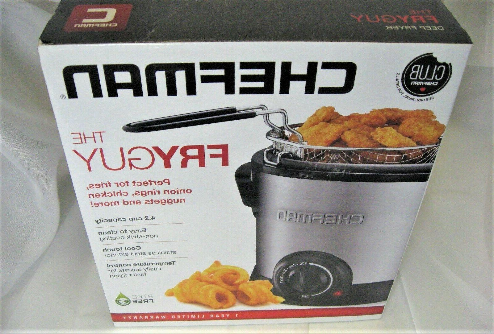 deep fryer fry guy with basket strainer
