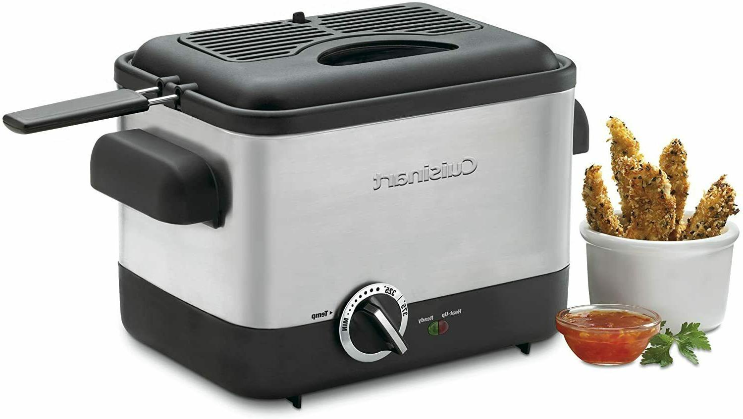 Cuisinart CDF-100 Compact 1.1-Liter Deep Fryer, Brushed Stai