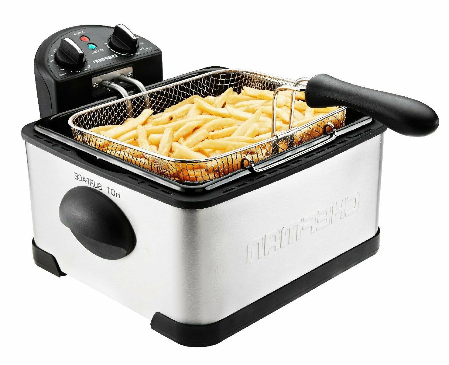 deep fryer with basket strainer perfect stainless
