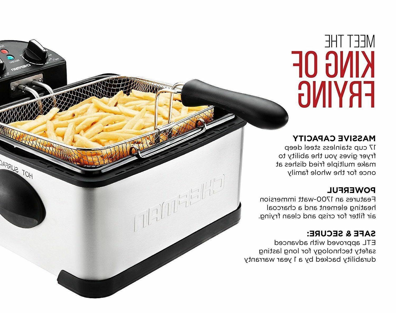 Chefman Deep Basket Container RJ07-4DSS-T-CL