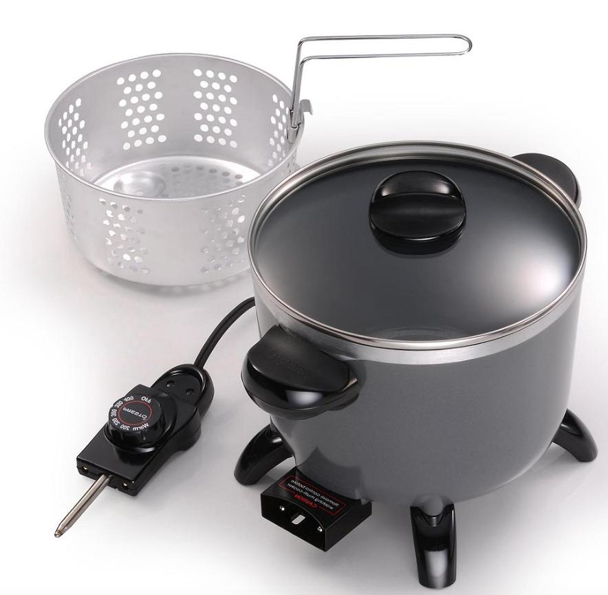 NEW Presto Diamond Coated Ceramic Multi-Cooker Steamer Deep
