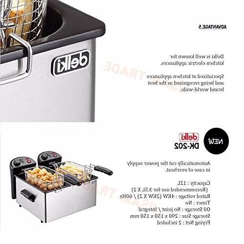 Delki DK-202 Deep Fryer Double Sensor 3.5Lx2