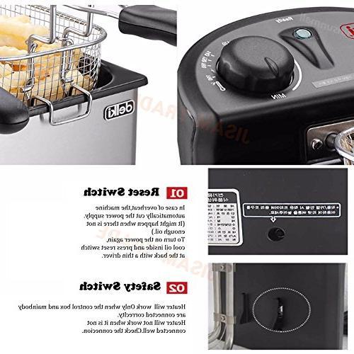 Delki Deep Fryer Double Sensor Large 3.5Lx2