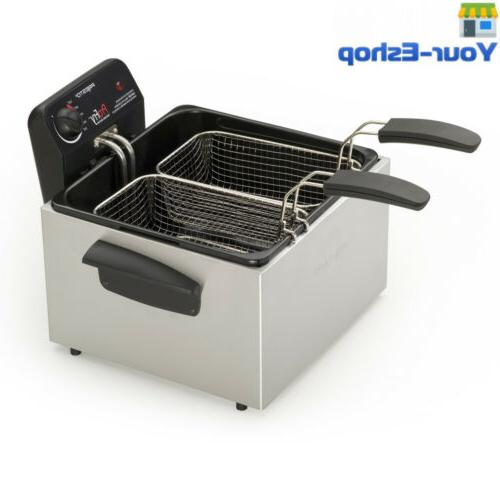 Dual Fryer Electric For The Home