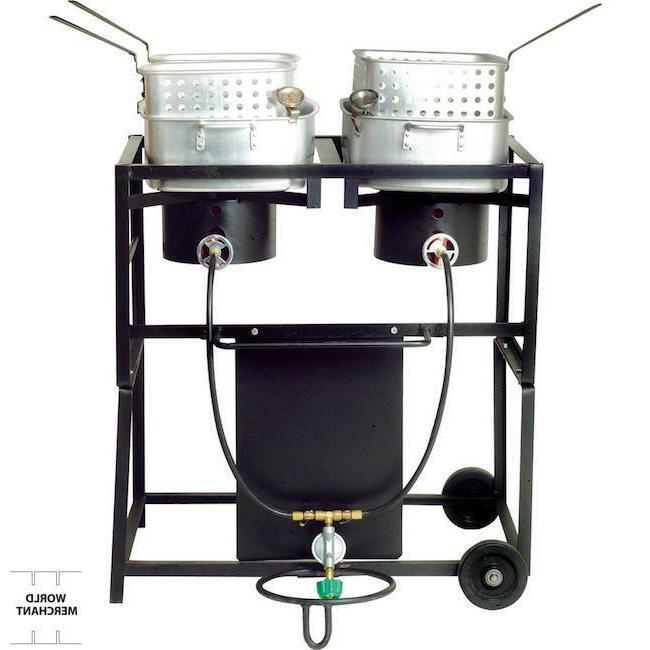 dual frying cart