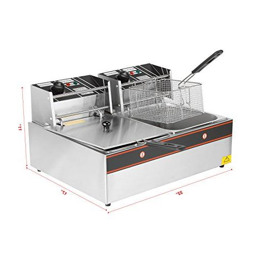 Idealchoiceproduct Dual Tanks Professional Tabletop Restaurant Frying Machine