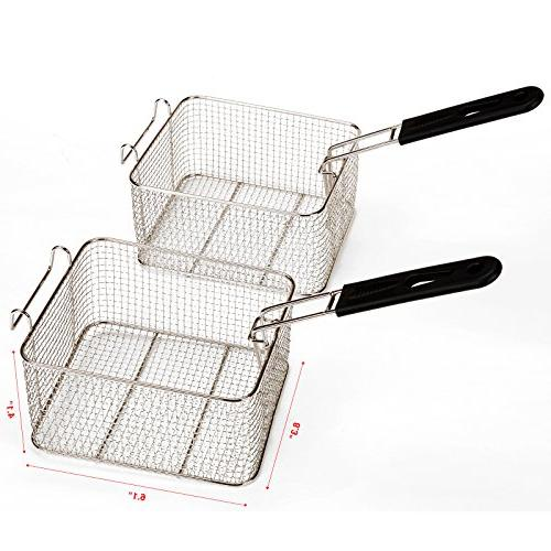Idealchoiceproduct 12L Dual Tanks Deep Professional Frying Machine 2 Basket