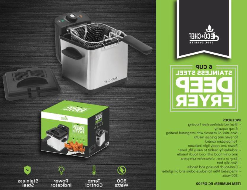 eco chef 6 cup stainless steel deep