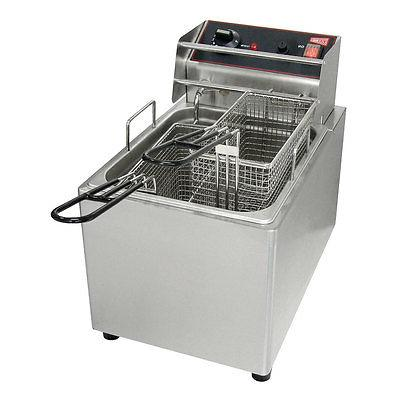 el15 electric deep fryer 15lb removable tank